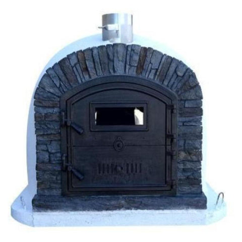 Image of Authentic Pizza Ovens Premium Ventura Black Stone Countertop Wood Fired Pizza Oven VENTPREMB