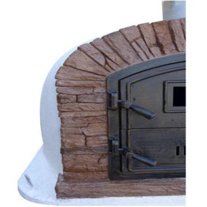 Authentic Pizza Ovens Premium Ventura Red Brick Countertop Wood Fired Pizza Oven Red Brick Close Up View