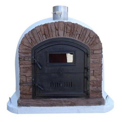 Image of Authentic Pizza Ovens Premium Ventura Red Brick Countertop Wood Fired Pizza Oven VENTPREMR