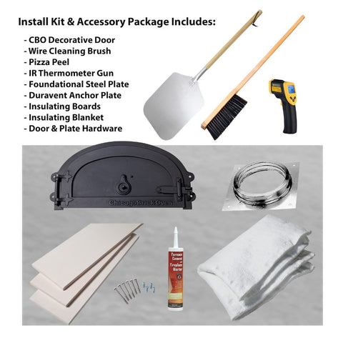 Chicago Brick Oven CBO 500 Wood Fired Pizza Oven Kit Installation Kit and Accessory Package All Items Included