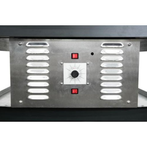 Chicago Brick Oven CBO 750 Hybrid Gas and Wood Fired Pizza Oven DIY Kit Gas Control Panel Close Up View