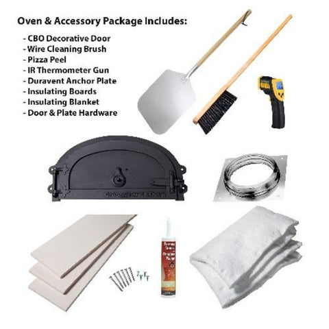 Chicago Brick Oven CBO 750 Hybrid Gas and Wood Fired Pizza Oven DIY Kit Accessories and Parts Included with Oven