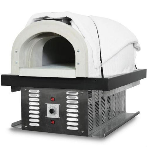Chicago Brick Oven CBO 750 Hybrid Gas and Wood Fired Pizza Oven DIY Kit Right Side View Close Up