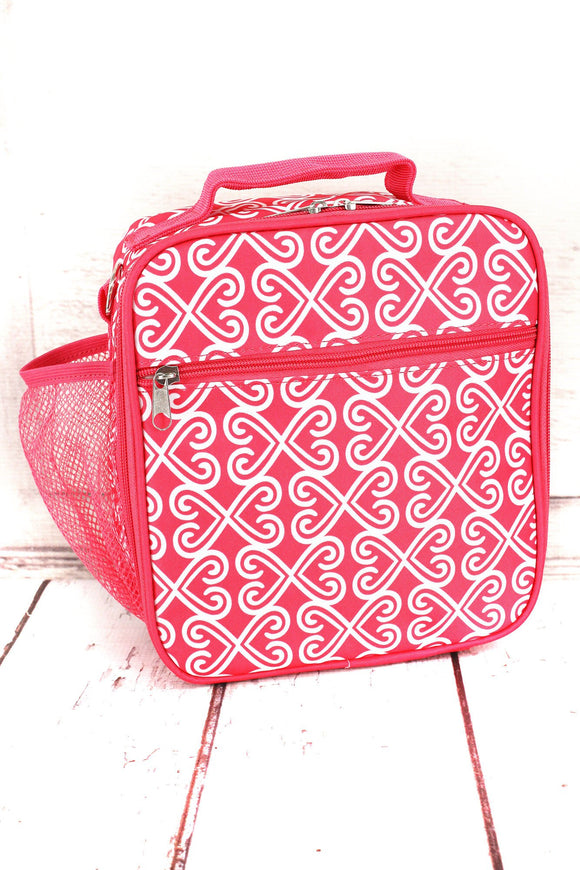 Heart Trellis-Lunch Bag-Pink