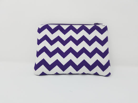 Ines Collection-Coin Purse-Purple/White