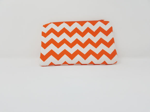 Ines Collection-Coin Purse-Orange/White