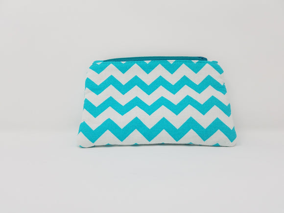 Ines Collection-Coin Purse-Aqua/White