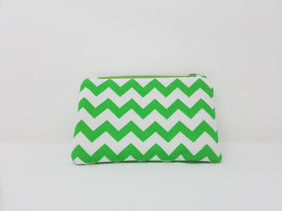 Ines Collection-Coin Purse-Green/White