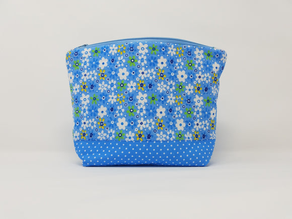 Savannah Collection-Make Up Bag-Sky/Floral