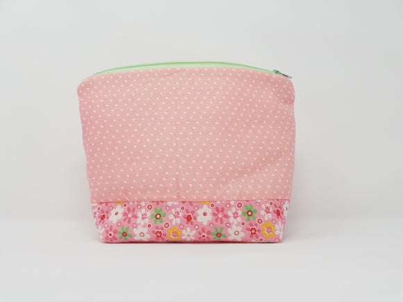 Savannah Collection-Make Up Bag-Peony/Polka Dots