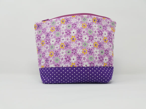 Savannah Collection-Make Up Bag-Violet/Floral