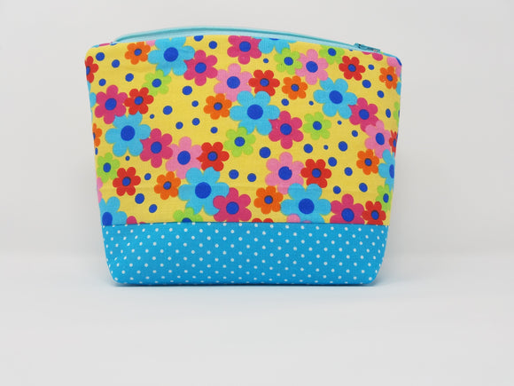 Zoey Collection-Make Up Bag-Yellow/Floral