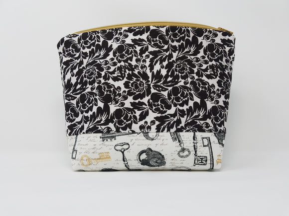 Paris Collection-Make Up Bag-Black/Tan