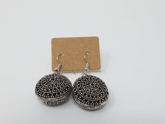 Round Aztec Earrings