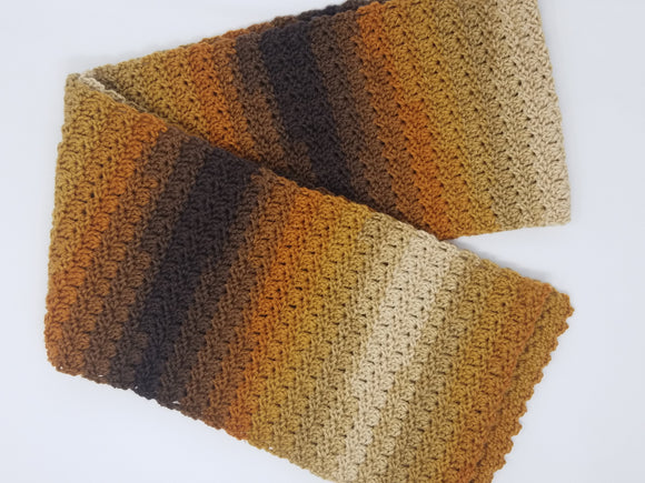 Scarves-Cafe Latte Stripe