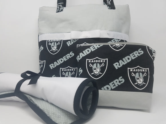 Custom Raiders Diaper Bag