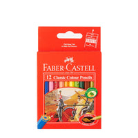 FABER CASTELL Colored Pencil Short x 12