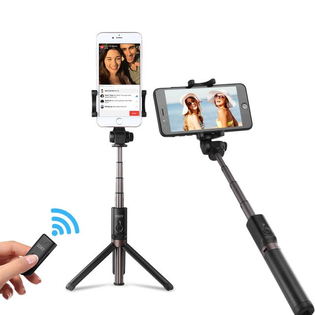 Bluetooth Selfie-Tripod Stick