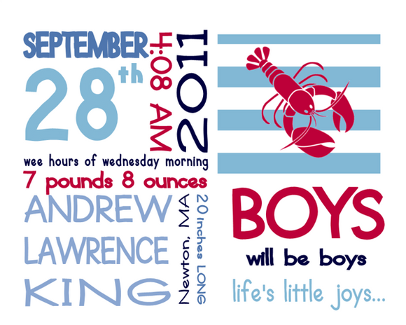 On The Day You Were Born- Boy Lobster