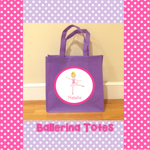 Personalized Ballerina Totes