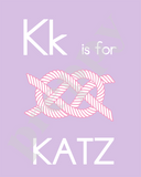 Alphabet Soup Personalized Prints-Girls K L M N