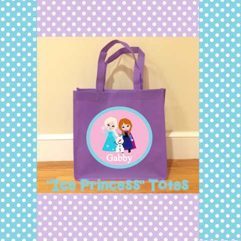 Personalized Ice Princess Totes