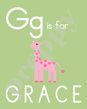 Alphabet Soup Personalized Prints-Girls F G H I J