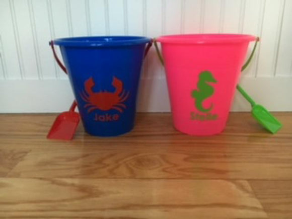 Personalized Beach Pails