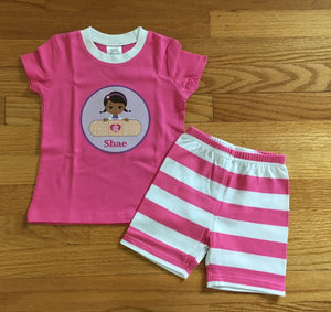 Hot Pink Personalized Pajamas/Loungewear