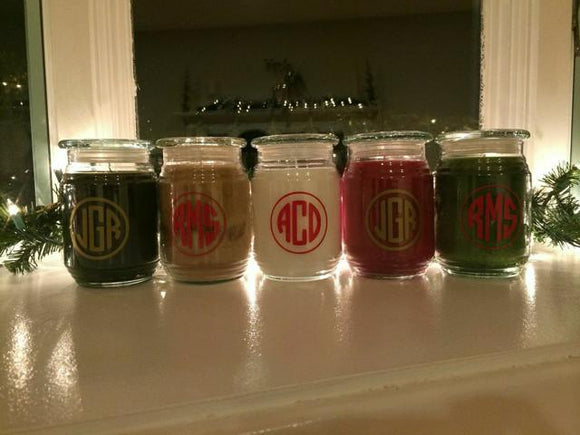 Personalized Holiday Candle