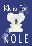 Alphabet Soup Personalized Prints-Boys K L M N
