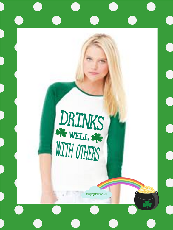 Adult St. Patrick's Day Baseball Shirts