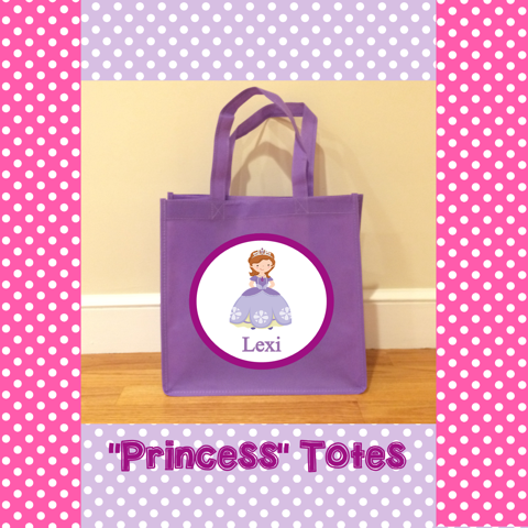 Personalized Princess Totes