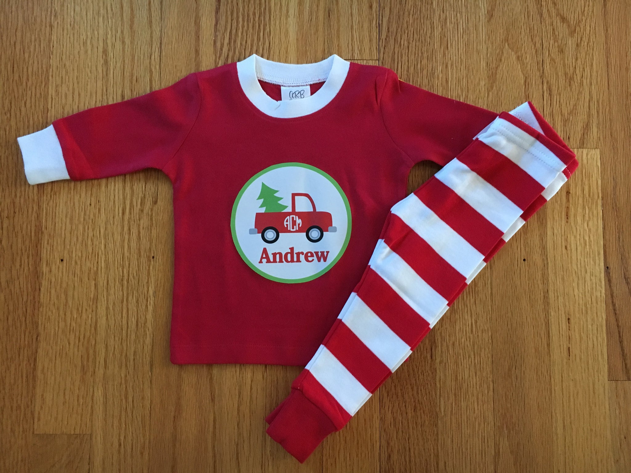 08eb6b94d6 ... Personalized Infant and Toddler Christmas Pajamas Loungewear ...