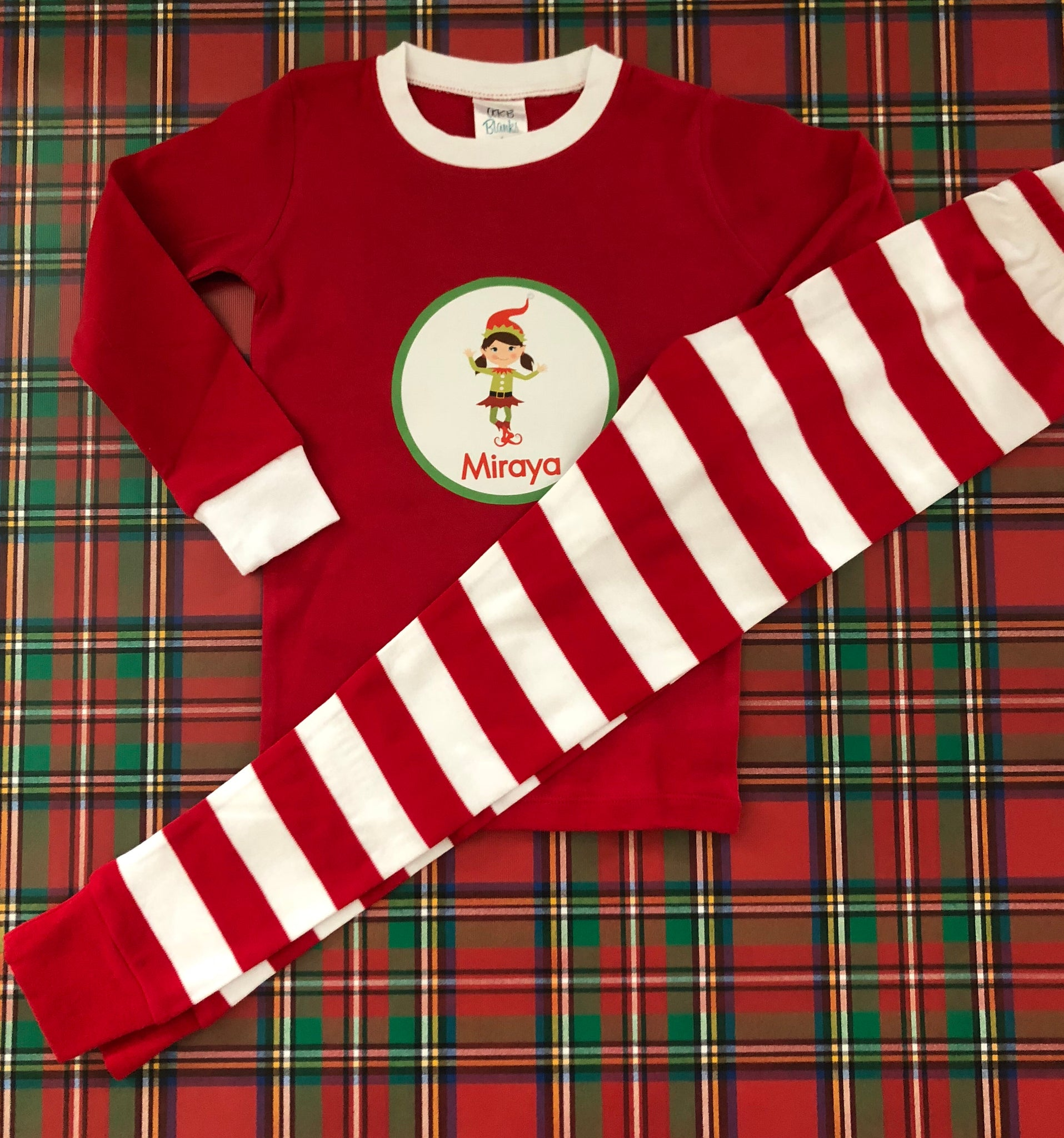 a4eda4ce96 Personalized Youth Christmas Pajamas Loungewear – Preppy Personals