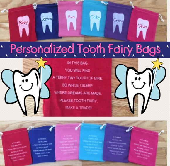 Personalized Tooth Fairy Bag