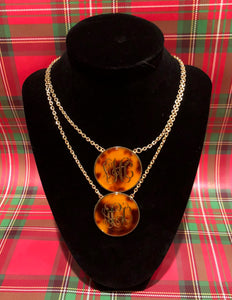 Personalized tortoise shell necklace