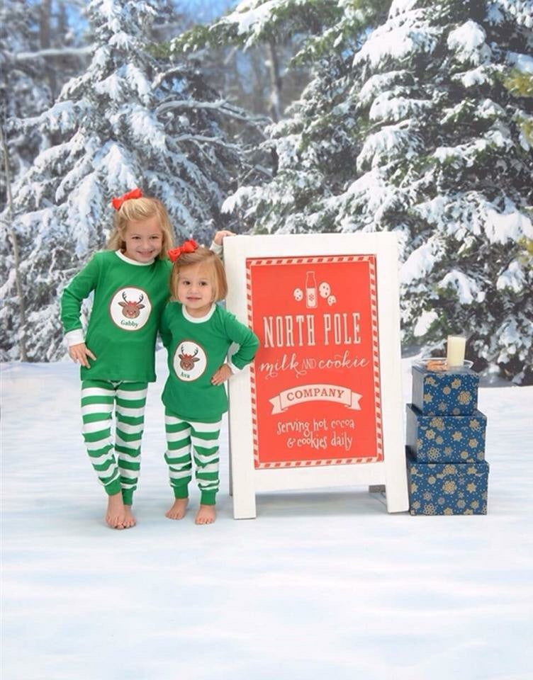 bfbcd094c0 Personalized Infant and Toddler Christmas Pajamas Loungewear ...