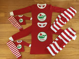 Personalized Infant and Toddler Christmas Pajamas/Loungewear