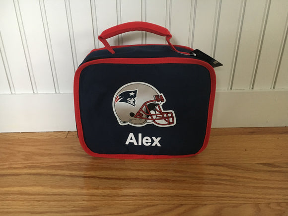 Personalized NFL Patriots Lunch Box