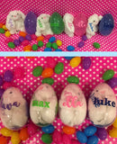 Personalized Easter Bunnies and Egg