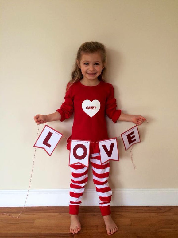 Personalized Valentine's Pajamas/Loungewear
