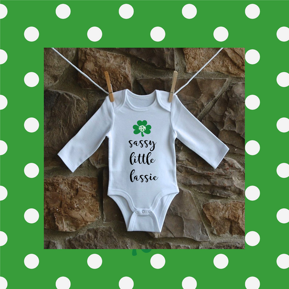 Personalized St. Patirck's Day Onesies and Shirts