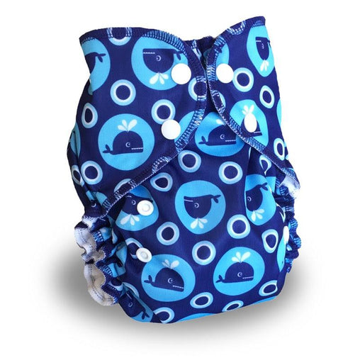 Amp Diapers - Couche taille unique - Whales
