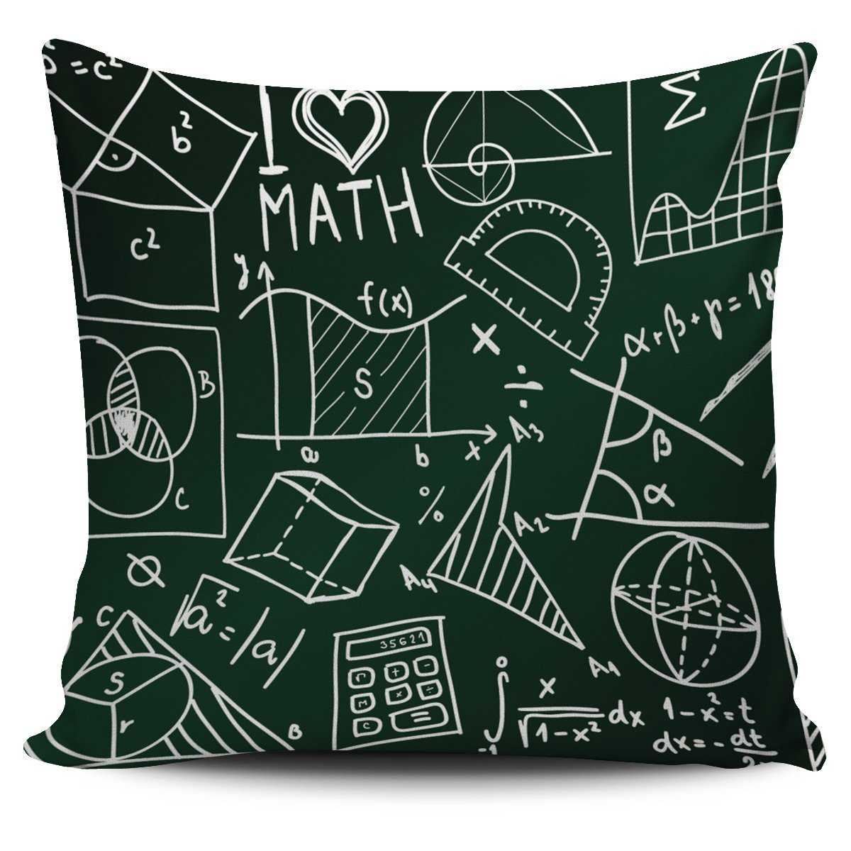 i love math pillow cover for math lovers - chiliprints