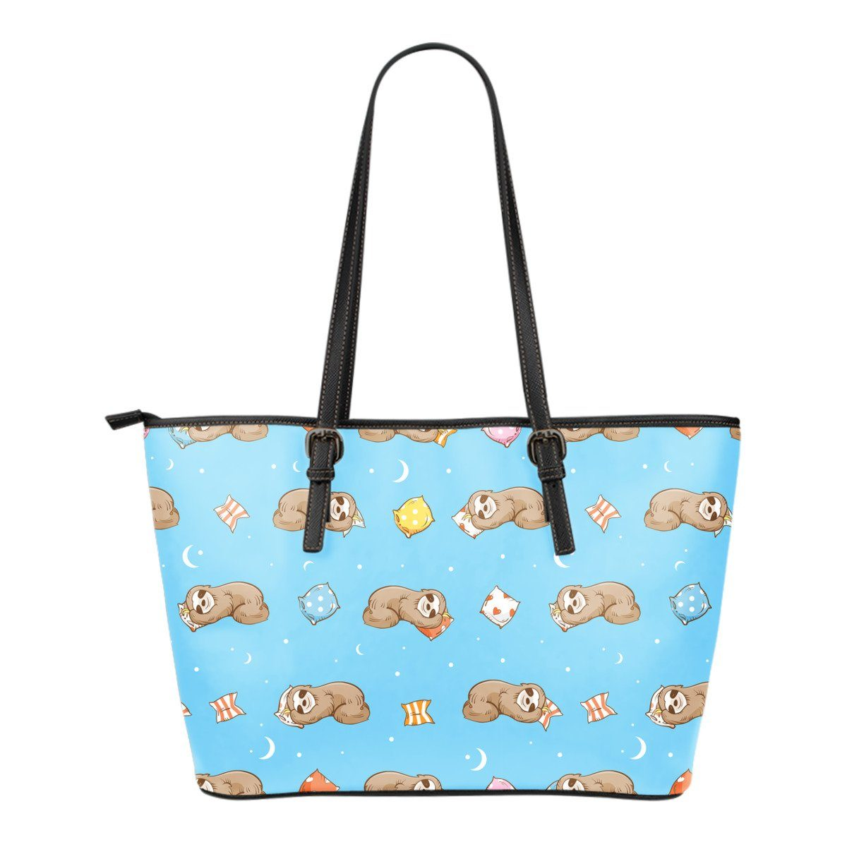438f6cef143d Sloth Bag-Cute Sloth Gifts Leather Tote Bag for Sloth Lovers ...
