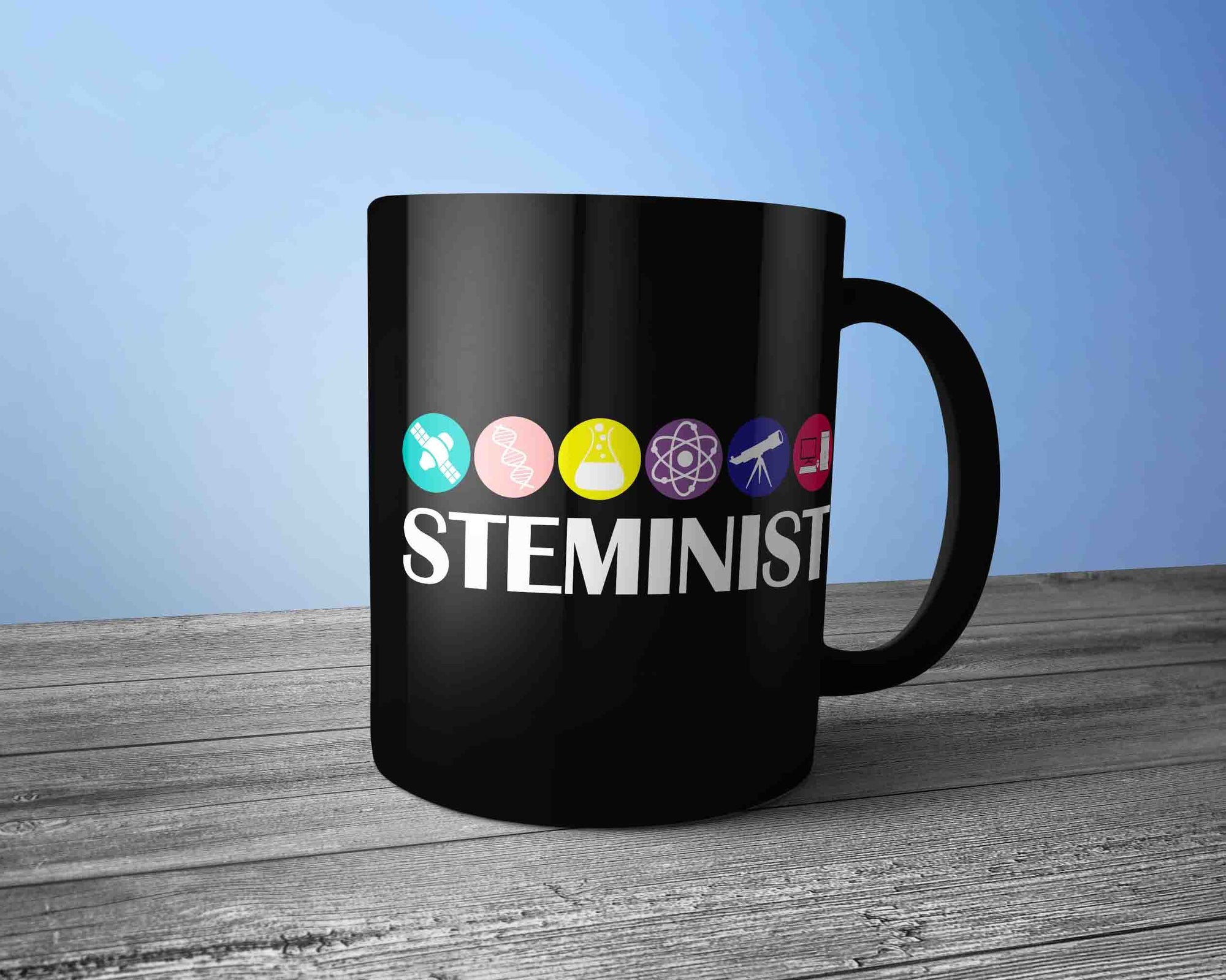 20d98d4c8035 Steminist Mug-Cool Gifts for Women Men in Stem Field - ChiliPrints