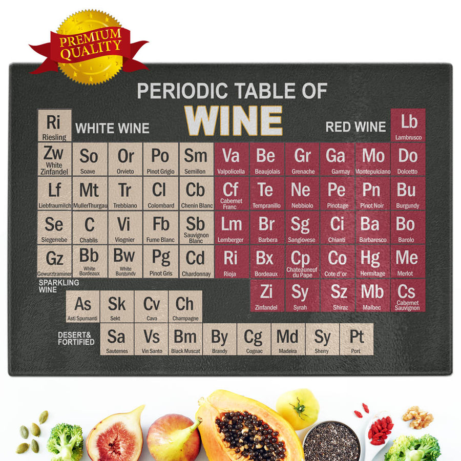 Cool Periodic Table Of Alcohol Cutting Board Chiliprints