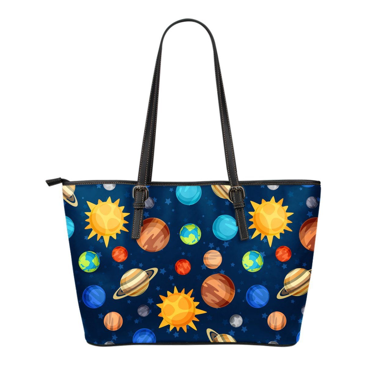 f23e02829c72 Women Leather Tote Bag Solar System -Cool Astronomy Gifts Space Lovers