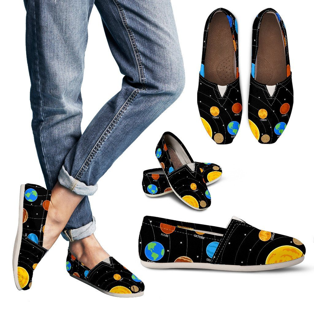 Space Shoes For Women Cool Solar System Astronomy Gifts Space Lover